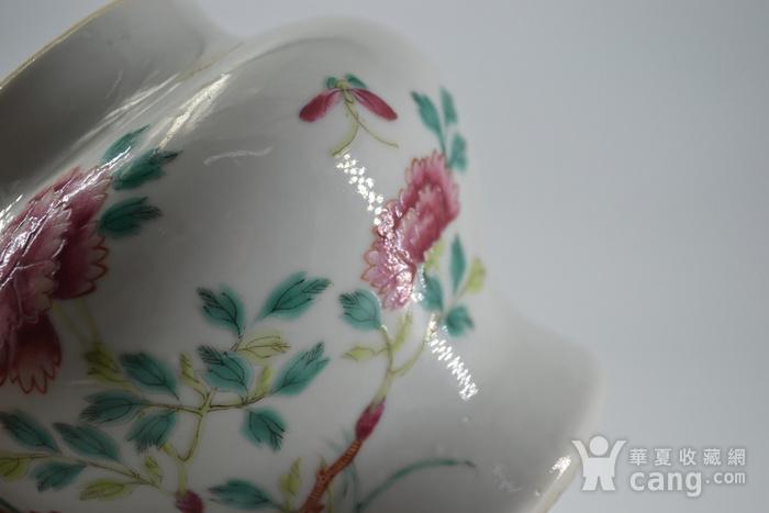 清雍正粉彩洞石花卉小将军罐图3