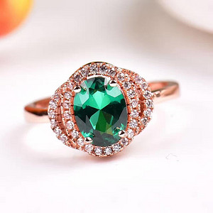 炫彩祖母绿戒指