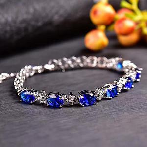 炫彩蓝宝石手链