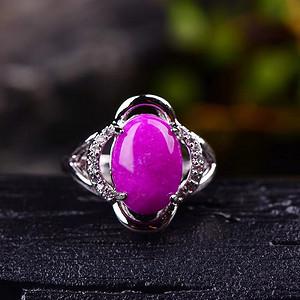 南非国宝抗癌宝石老料舒俱来皇家紫戒指