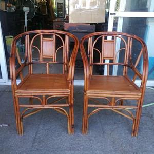 一对非常漂亮的竹圈椅