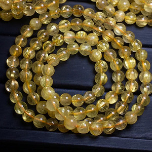 天然金发晶手链