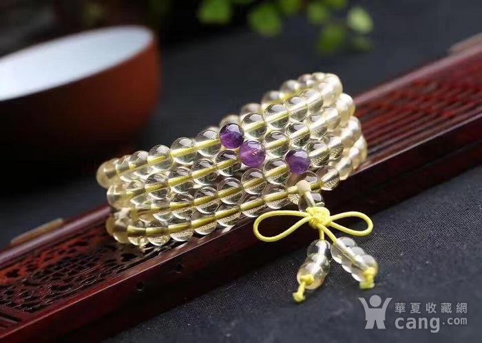 黄水晶佛珠手链图1