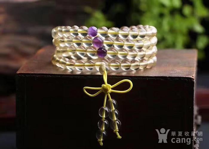 黄水晶佛珠手链图2