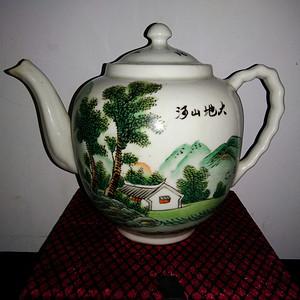 金牌 山水茶壶