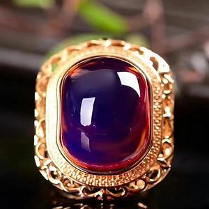 缅甸紫罗兰琥珀戒指