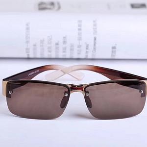 男士大框打孔无框大气时尚水晶眼镜