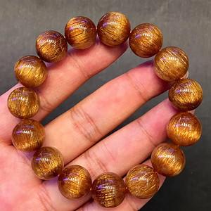 天然巴西铜发晶手链