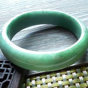 金牌 缅甸天然A货翡翠老坑种满绿色完美手镯