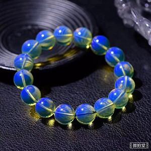 精品顶级多米尼加6A净体天空蓝蓝珀手链