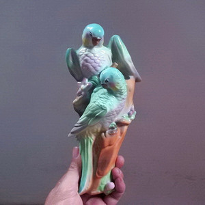 金牌 高手塑像,鹦鹉壁挂 美全品