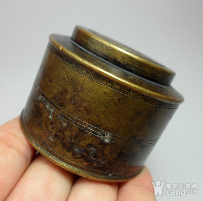 民国老铜墨盒!特色收藏 C  !图11