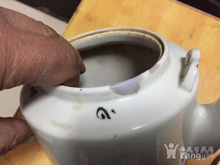 联盟 民国浅绛彩山水风光提梁茶壶 已经鉴定图11