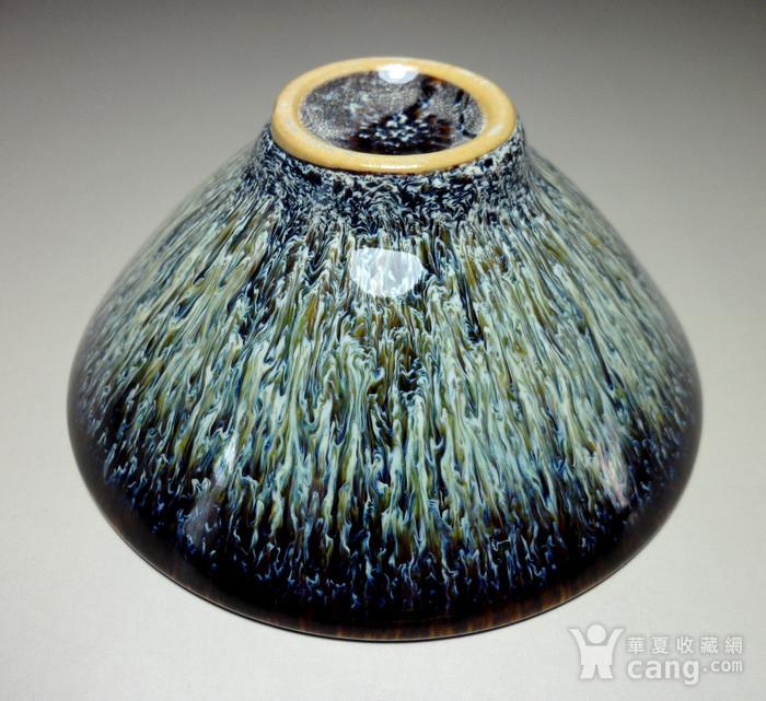 德化瓷漂亮窑变釉兔毫建盏茶盏!图10