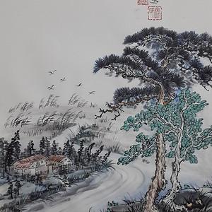 联盟 职业画家张国顺国画源远流长