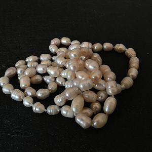 欧洲直邮 欧洲天然老珍珠项链