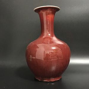 釉里红 赏瓶