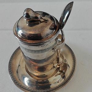 到货国内 意大利老银器925杯子带盖带底盘