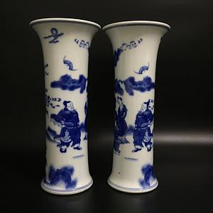 青花花鼓瓶
