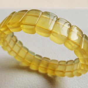 纯天然金黄萤石聚宝盆水晶手排