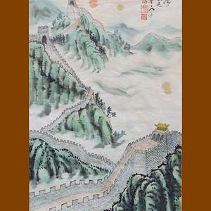 国际美联艺术家张国顺山水画巨龙腾飞三尺中堂