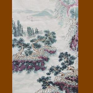 国际美联艺术家张国顺山水画千头万绪自然情3尺中堂