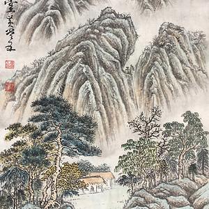 国宝级艺术家黄常五《南山草堂》