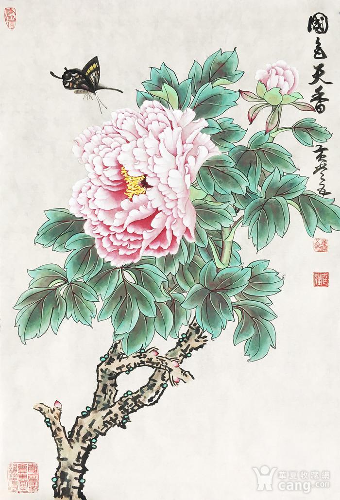 国宝级艺术家黄常五工笔《国色天香》图1
