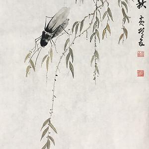国宝级艺术家黄常五《纺织一秋》