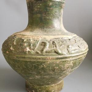 汉代绿皮陶罐