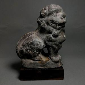 清代砖雕老狮瑞兽