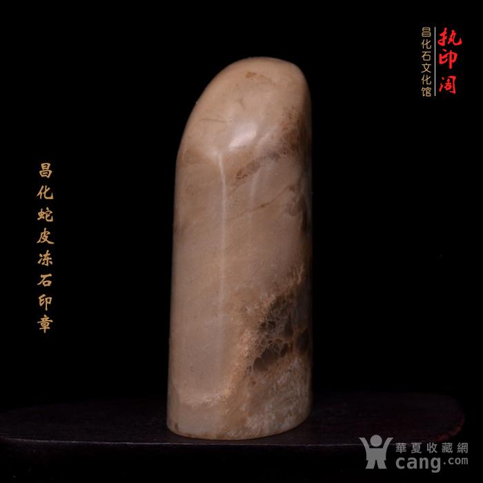 昌化蛇皮冻石印章图3