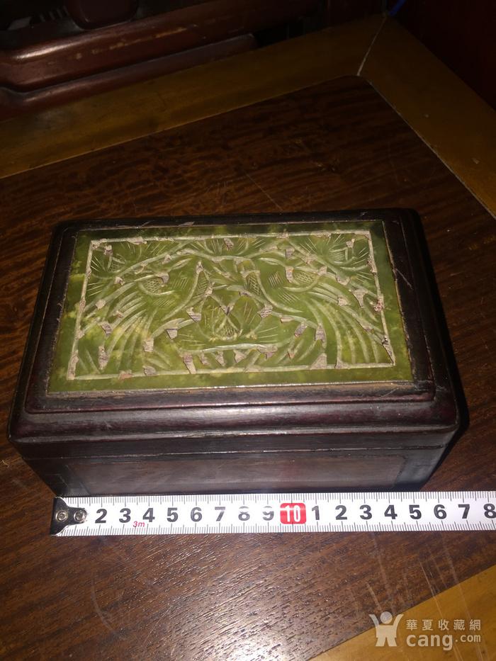 清晚 楠木嵌玉和樱木手饰盒图1