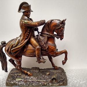 二十世纪初法国铜雕拿破仑征战凯旋像