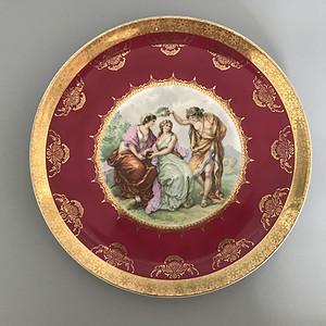 欧洲皇家名瓷:古希腊神话人物故事粉彩溜金大盘3
