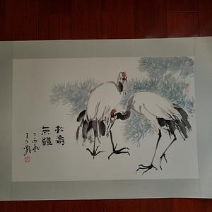 金牌 《已双重鉴定》当代著名画家:江野老师 精品花卉 松寿无疆图