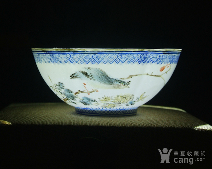 景德镇文革老厂货瓷 精品收藏 全手工彩绘菊苑芳华图薄胎碗图9