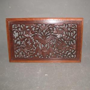 一片比较漂亮的老红木雕刻板