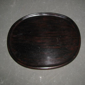 整料挖老红木文房盘