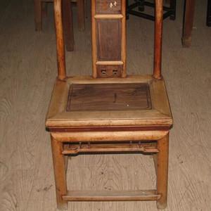红木面单背椅子