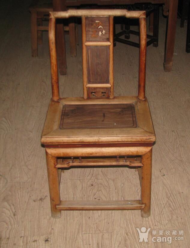 红木面单背椅子图1