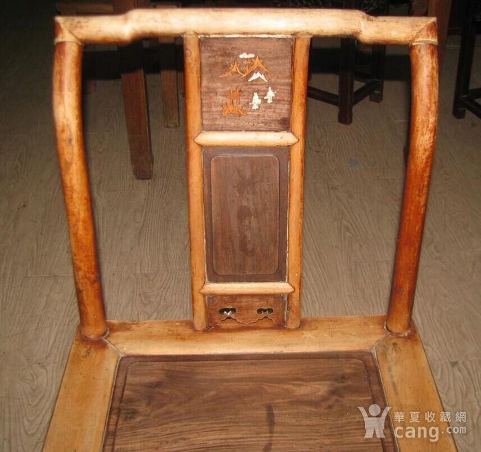 红木面单背椅子图3