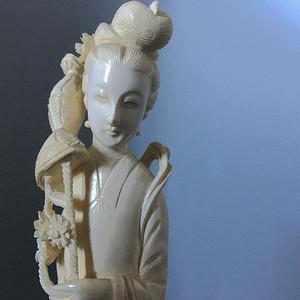 欧洲直邮 天然材质何仙姑仙女雕