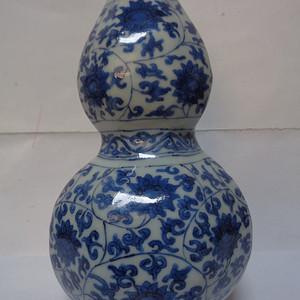 青花8棱葫芦瓶