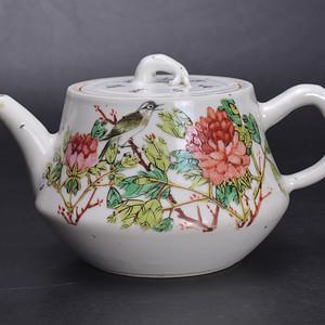 晚清 张子英 富贵白头 大茶壶