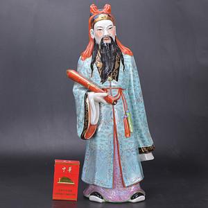 文关公 瓷像