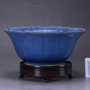 康熙 蓝釉大碗
