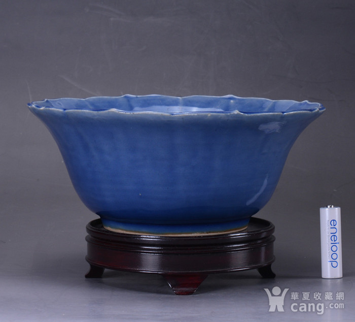 康熙 蓝釉大碗图1