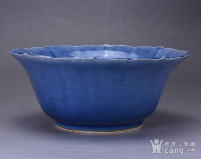 康熙 蓝釉大碗图3
