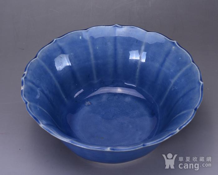 康熙 蓝釉大碗图4
